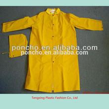 waterproof adult plastic rain suits with logo