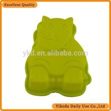 hippo animal shaped silicone cake mould
