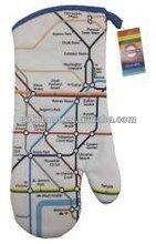 UK London Underground Transport for London Tube Map Design Oven Mitt Glove