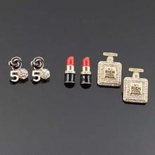 "Lead & Cadmium Free ""RICH"" Perfume Fashion Earrings Set"