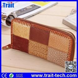 Stylish Genuine Leather Women Zipper Wallet Long Clutch Purse Clutch Bag