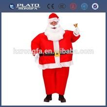 Venda quente promocionais pai natal infláveis de papai noel enfeite de fantasia, terno/custume para publicidade
