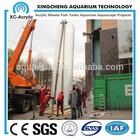 Factory direct sale transparent acrylic large aquariums for sale