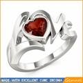 Coeur rubis diamant bague de fiançailles prix