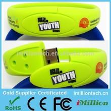 Hot selling! Bracelet usb flash drive/Usb pen drive bracelet/Waterproof usb bracelet