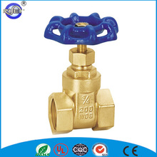 Popular blue wheel handle 3 inch 200 wog brass stem gate valve