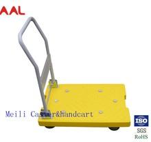 Platform Folding Plastic Trolley, Cheap Utility Folding Plastic Trolley, Hand Push Plastic Trolley