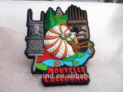 custom flexible rubber france souvenir fridge magnet