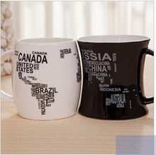 Factory direct low price good quality ceramic black white glazed couple mug cup/unique logo customized coffee mug designs