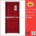 Pu pintura de madeira portas de entrada modernos SC-W032
