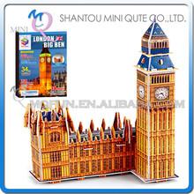 Mini Qute London 3d puzzle big ben model building block world architecture 3d paper cardboard puzzle educational toy NO.B668-19