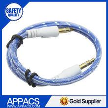 Top quality TPE hot sale customize car audio aux 3.5mm usb cable