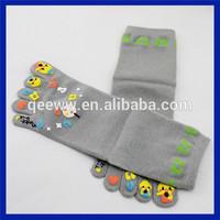 cute cartoon 5 toe socks women in girdles and stockings