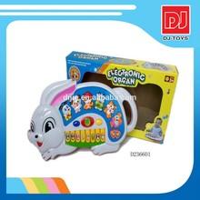 kids cartoon rabbit piano toy keyboard D236601