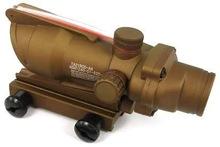 SUNGUN War Game ACOG Replica TA31 1x32 Red Green Dot Sight Gun Scope w/ Dummy Fiber Cable & Quick Detach Mounts #Tan, HD-2C