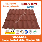WANAEL Classic Colorful Stone Coated Metal Roofing Tile / Metal Corrugated Tile Roofing/Stone Chip Coated Metal Roof Tile Sheet