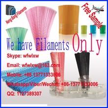 PP PVC PBT PET Plastic broom filametns crimped wave flaggable broom filaments