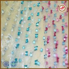 Shiny yarn diamonds jacquard spread on curtain jacquard pleated sheer curtains