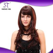 european style elegant synthetic 20'' long body wave wig kanekalon for fashion female or women