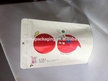 plastic colored zip lock tea pouch