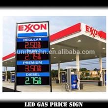 Easy catching customer eyes usa :high brightness IP65 digital 7 segment gas/oil station gas station led gas price digital sign