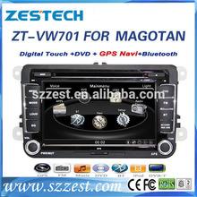 "ZESTECH brand new OEM 7"" audio car for VW magotan car multimedia system with bluetooth TV tuner radio"