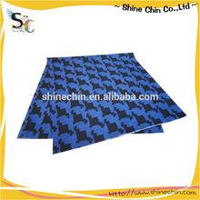 Diamond pattern polyester microfiber multifunctional blue headwear