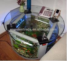 Round Coffee Table Fish Tank aquarium/Coffee Table Fish Tank/Glass and marble fish tank coffee table