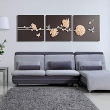3 panels sun metal wall art decor