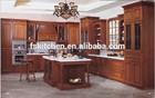 Flat pack teak wood kitchen cupboard