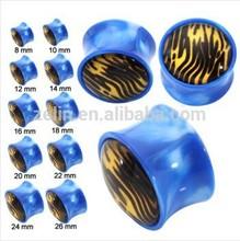 UV Leopard Print Acrylic Ear Plugs Ear Stretcher Piercing Body Jewelry