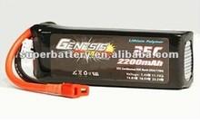 (SR-LP2200) Li-Polymer 25C Lithium Polymer 3S rechargeable RC lipo battery 2200mah 11.1v