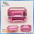 facetas atacado gemas sintéticas cz corte esmeralda topázio pink