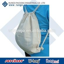 High quality classical canvas cotton shopping drawstring bag