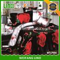 Poliéster hoja de cama conjunto/impreso duvet cover set/3d duvet cover