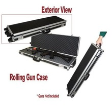 Slidable Rolling Gun Case with Wheels