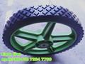 Caoutchouc en plastique roues / petite roues à rayons / enfants wagon roues 12 x 1.75