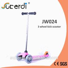 540*265*660mm 3 wheel aluminum T bar kids kick mini micro scooter