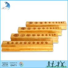de madera de jardín de infantes niño educativos montessori material didáctico en71 juguete para el niño lactante nudosa cilindros