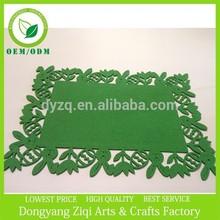 Green rabbit & flower felt coasters felt placemats