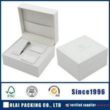 white paper watch and cufflink box