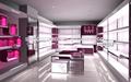 moda e splendente compensato visualizzazione scarpe armadio a muro con led per negozio di scarpe delle donne