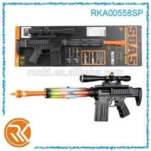 B O shoot gun toys, 58cm sound toy guns with light and music