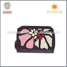 Trendy Screen Design Women Embroider Pu Coin Wallet