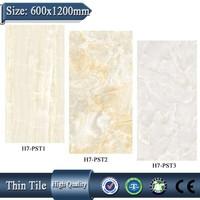 H7-PST1 600x1200 fully vitrified villa glazed slim porcelain tiles