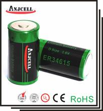 D size 3.6V19Ah lithium battery