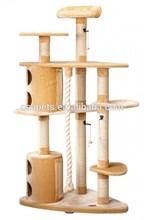 400g plush & 6mm sisal post cat condo cat tree Eco-friendly cat scratching post