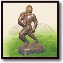 children sculpture - bronze boy & girl playing on swing garden statue
