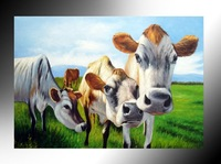 handmade cowboy oil painting Stretched Canvas Painting