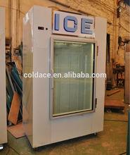Solar power Indoor/outdoor bagged ice storage bin